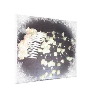 Wedding Comb Stretched Canvas Print