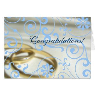 Wedding Congrats (Customisable Colour!) Greeting Card
