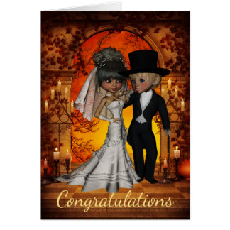 Wedding Congratulations for  Halloween Wedding Card