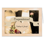 Wedding Congratulations Personalised Couple Greeting Card