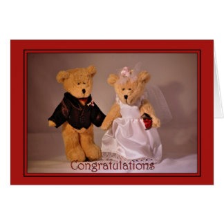 Wedding Congratulations. Wedding teddy bears Card