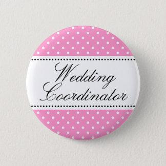 Wedding coordinator pinback buttons | Pink