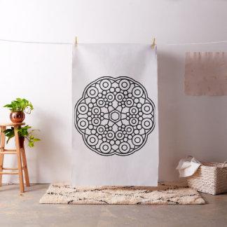 Wedding cotton with Mandala art Fabric