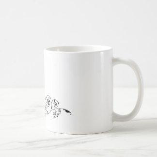 Wedding couple bride and groom silhouette coffee mugs