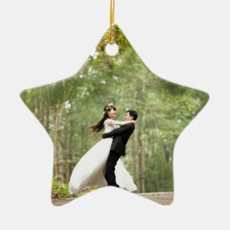 Wedding Couple Ceramic Star Decoration