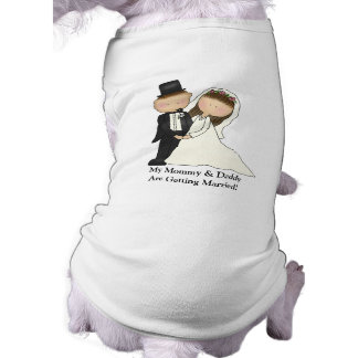 Wedding Couple (customizable) Sleeveless Dog Shirt