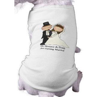 Wedding Couple (customizable) Sleeveless Dog Shirt