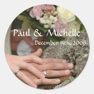 Wedding Couple Hands Stickers