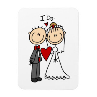 Wedding Couple I Do T-shirts and Gifts Magnet
