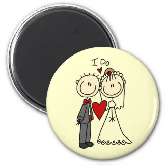 Wedding Couple I Do T-shirts and Gifts 6 Cm Round Magnet