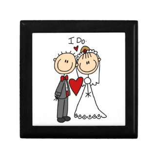 Wedding Couple I Do T-shirts and Gifts Small Square Gift Box