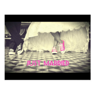 Wedding Couple in a Retro Style Fifties Diner Postcard