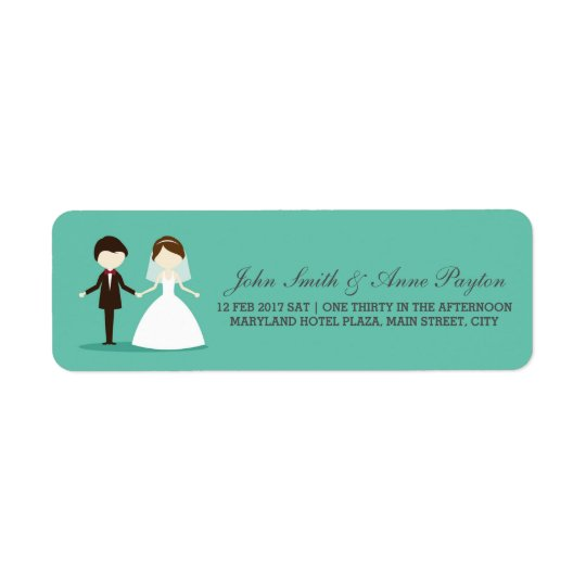 Wedding Couple Label Return Address Label