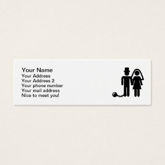 Wedding couple mini business card