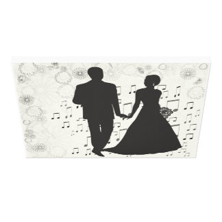 Wedding Couple Music Congratulations Party Shower Canvas Print