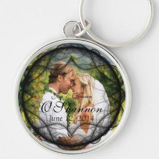 Wedding Couple Photo and Date Key Chain Key Chain