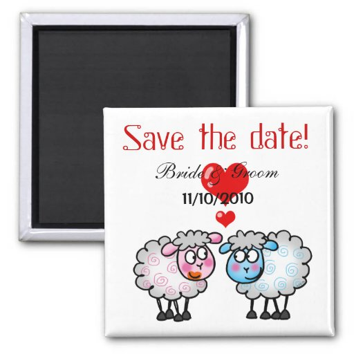 Wedding couple, Save the date Magnets