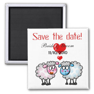 Wedding couple, Save the date Square Magnet