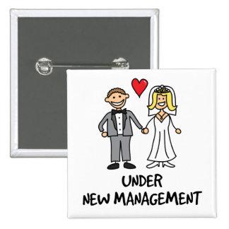Wedding Couple - Under New Management 15 Cm Square Badge