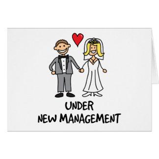 Wedding Couple - Under New Management Greeting Card