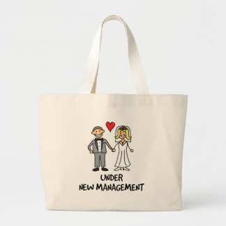 Wedding Couple - Under New Management Large Tote Bag