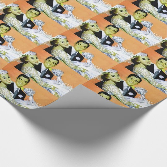 Wedding couple wrapping paper
