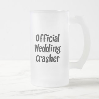 Wedding Crasher Frosted Glass Mug