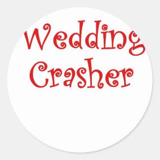 Wedding Crasher Round Stickers
