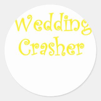 Wedding Crasher Classic Round Sticker