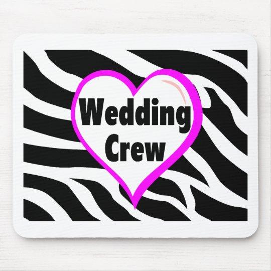 Wedding Crew Zebra Stripes Mouse Pad