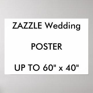 "Wedding Custom 16.5"" x 11"" Poster GLOSSY Landscape"