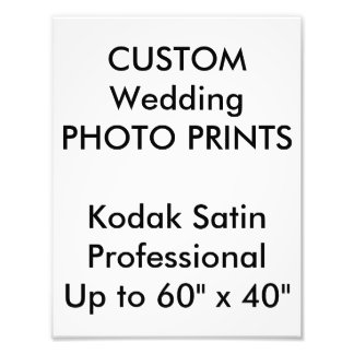 "Wedding Custom 8.5""x11"" Professional Photo Prints"
