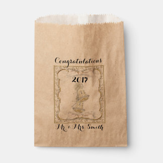 WEDDING CUSTOM  bag Kraft Favor 2 Favour Bags