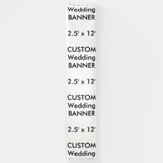 Wedding Custom Banner 2.5' x 12'