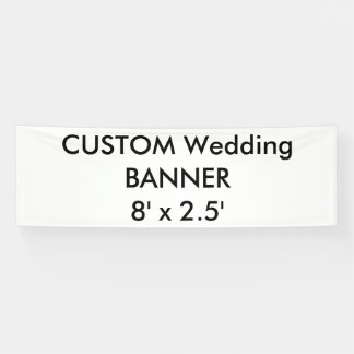 Wedding Custom Banner 8' x 2.5'