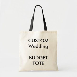 Wedding Custom Budget Tote Bag BLACK Handles
