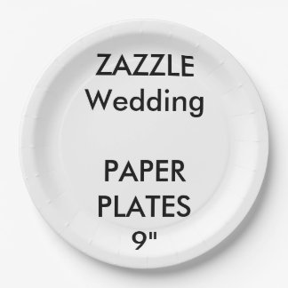 """Wedding Custom Disposable Party Paper Plates 9"""" 9 Inch Paper Plate"""