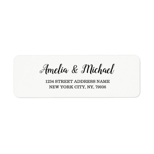 Wedding Custom Elegant Return Address Label