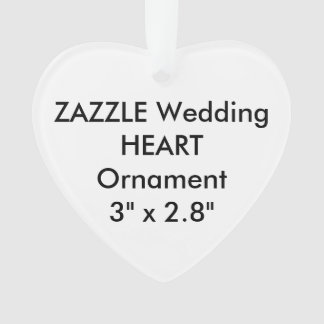 Wedding Custom HEART Hanging Ornament Decoration