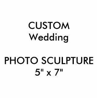 "Wedding Custom Photo Sculpture 5"" x 7"""