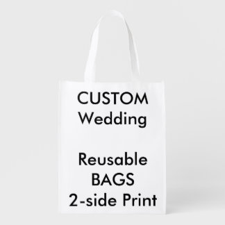 "Wedding Custom Reusable Bag 12"" x 16"""