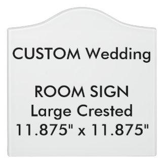 "Wedding Custom Room Sign Crested 11.875"" x 11.875"""