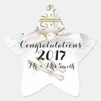 WEDDING CUSTOM STICKER STARS