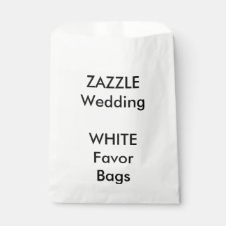 Wedding Custom WHITE Paper Favor Bag Favour Bags