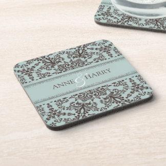 Wedding Damask Coasters (set of 4)