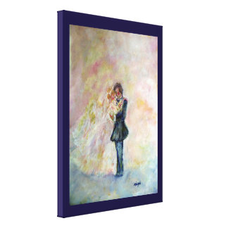 Wedding Dance Whimsical Gallery Wrapped Art Canvas Canvas Print