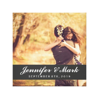 Wedding Date Canvas | Couple Photo Gallery Wrap Canvas
