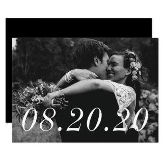 Wedding Date Just Married Wedding Announcement