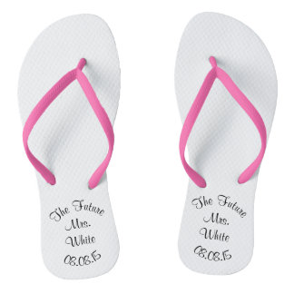 Wedding Day Bridal Flip Flops