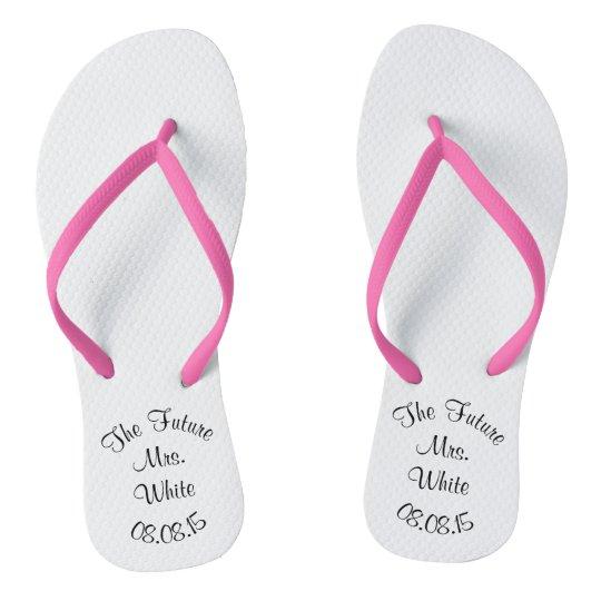 2c9fbb957 Wedding Day Bridal Flip Flops